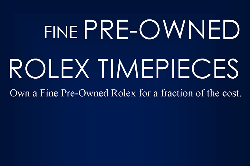 PreOwned Rolex Pitch